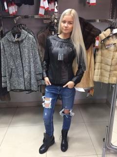 Куртка из кожи цвет черный (Турция)