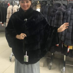 Куртка из меха норки цвет черный