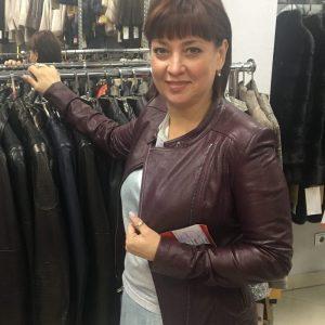Куртка из кожи цвет коричневый