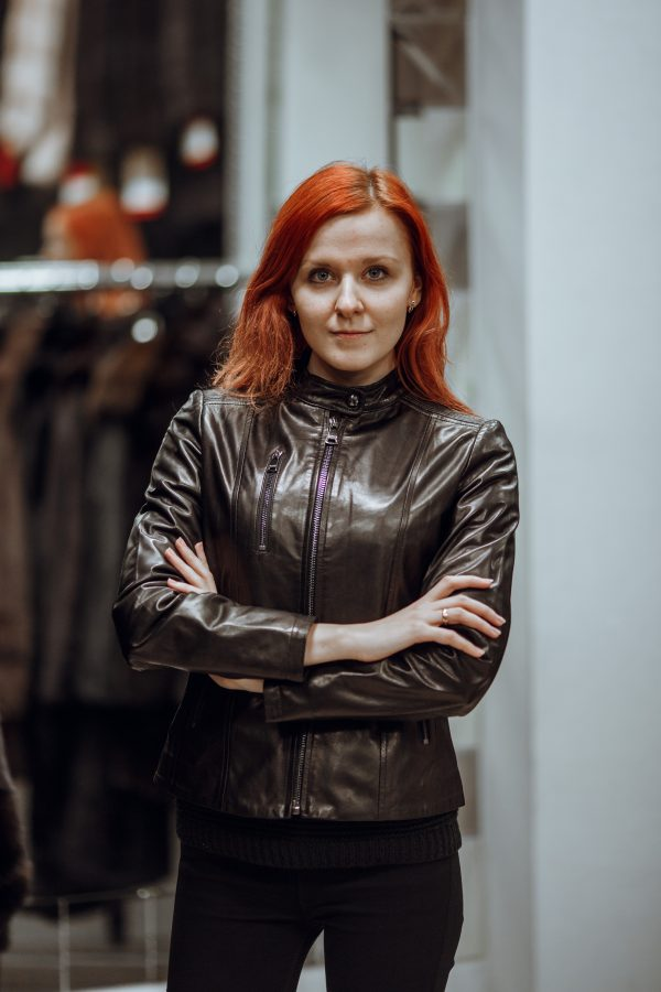 Куртка из кожи коричневая